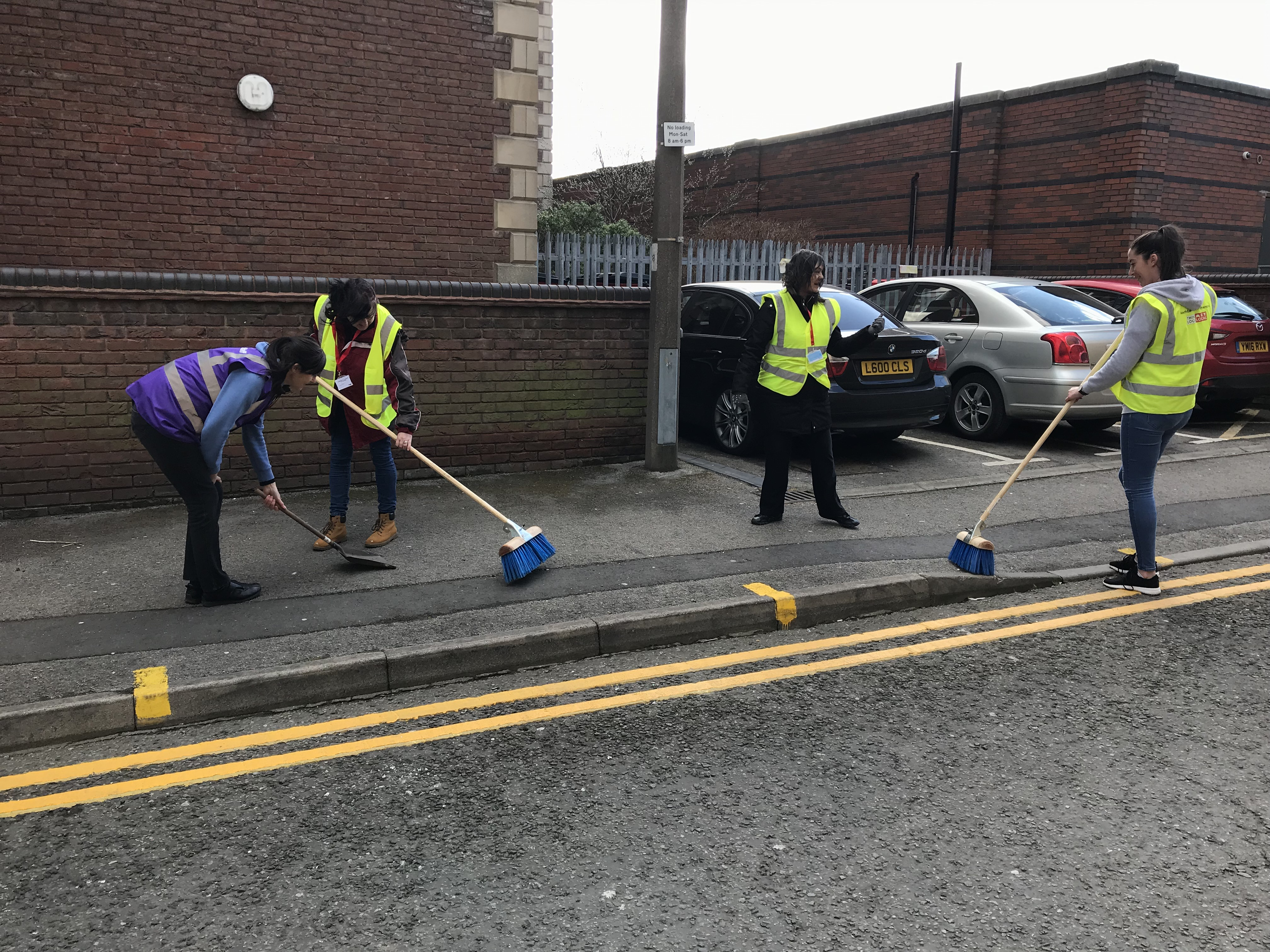 People cleaning up the streets of Barnsley