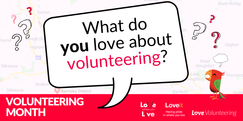 Volunteering month poster.