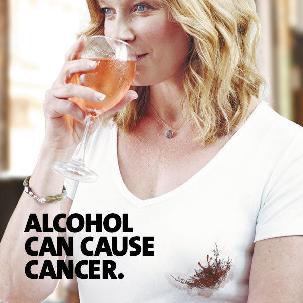 Alcohol can cause cancer - woman drinking beverage