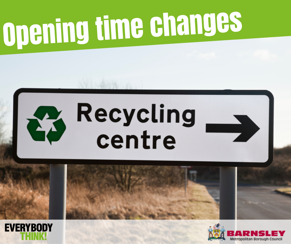 Autumn opening times - recycling centre.