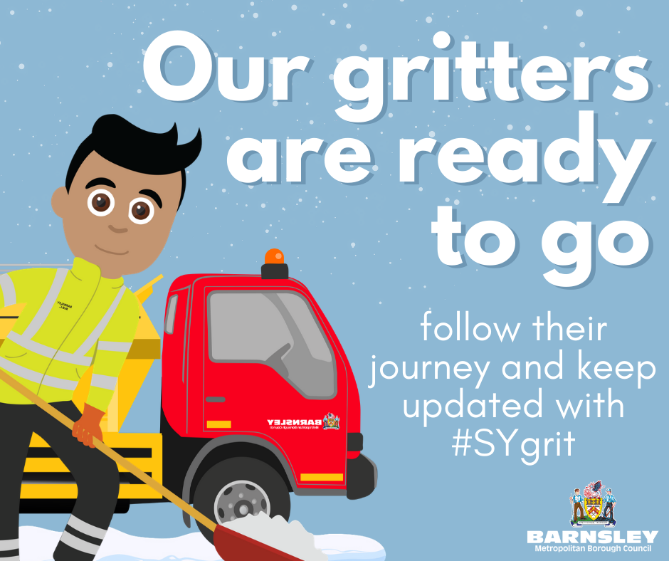 Gritting in progress poster.
