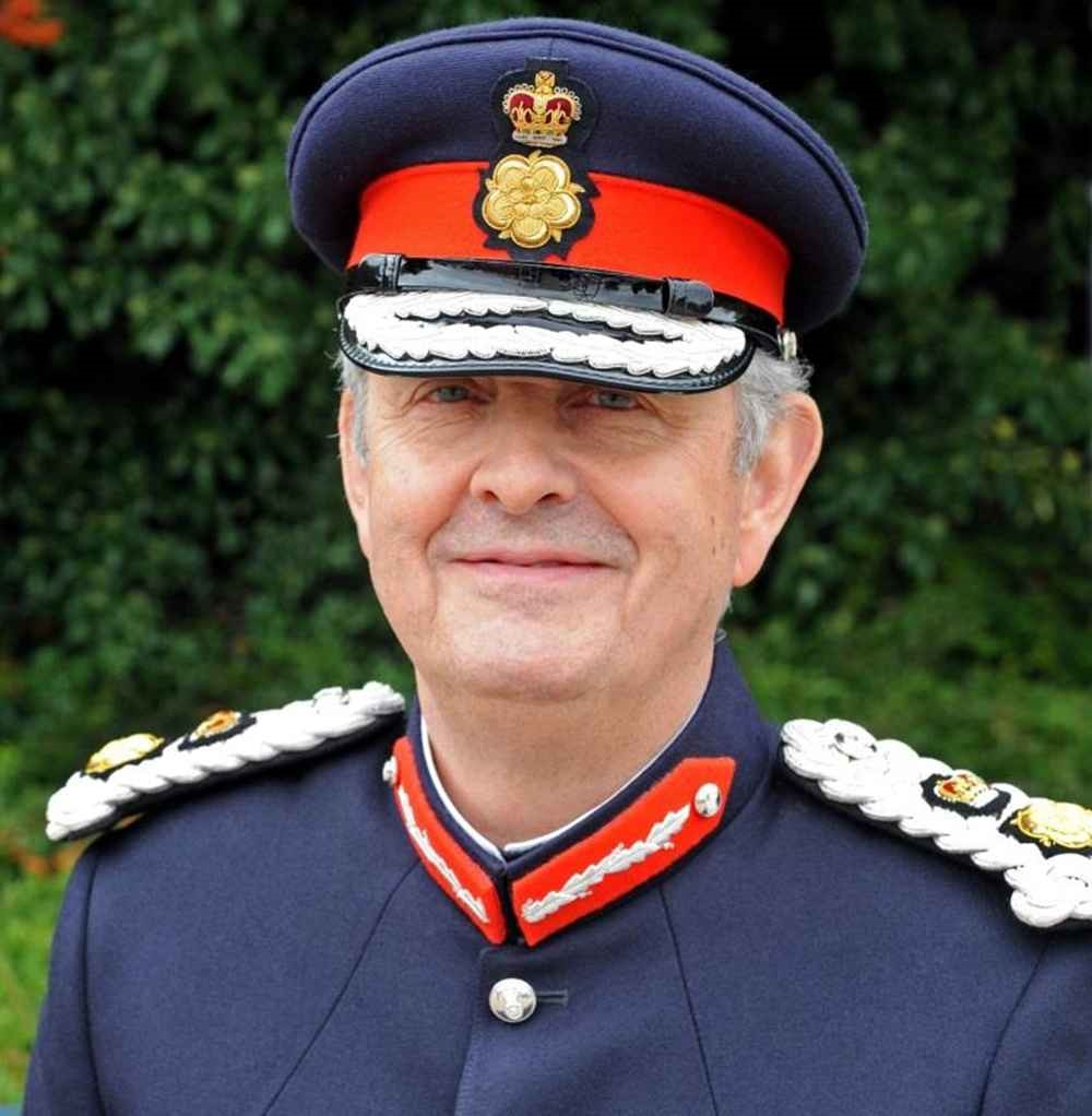 Lord Lieutenant in his uniform