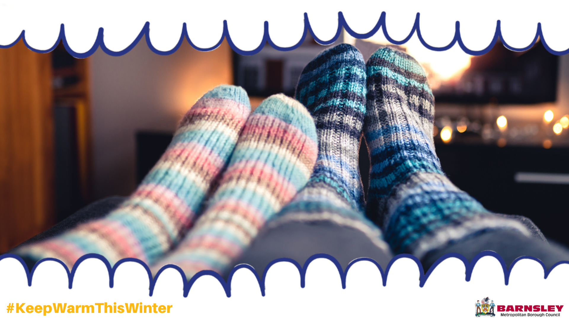 Warm home with fluffy socks