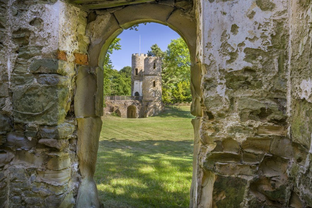 Wentworth castle gardens - picture taken through an archway