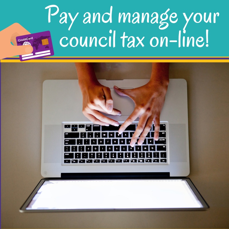 Pay and manage your council tax online - woman on laptop
