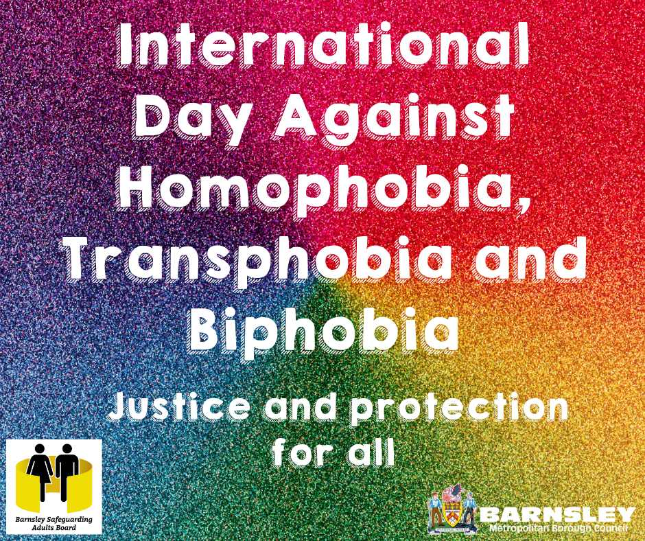 International day against homophobia flyer