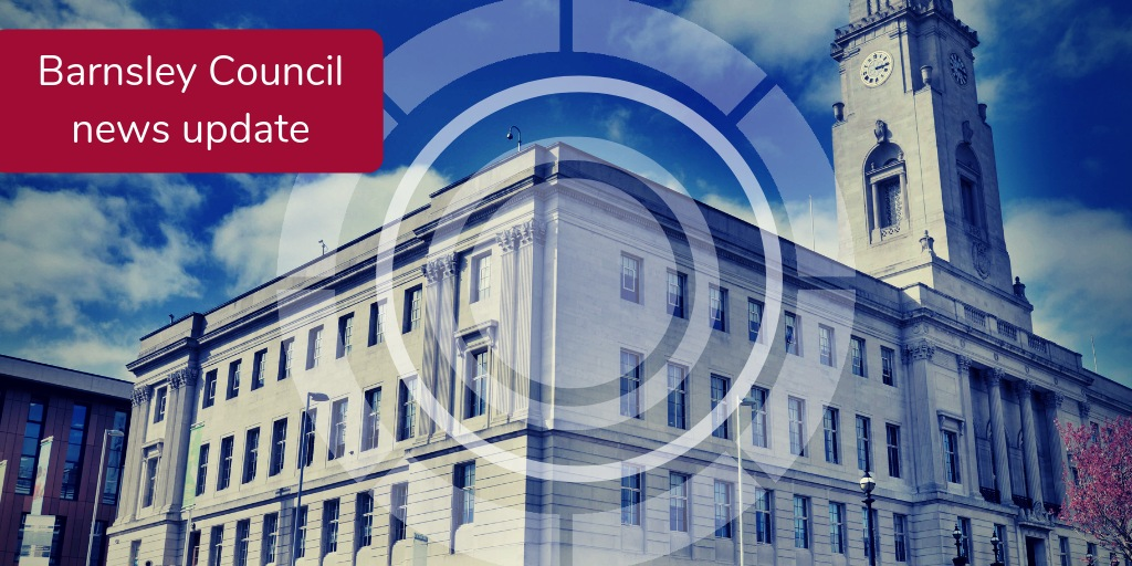 Barnsley council news update - background picture of the Town Hall