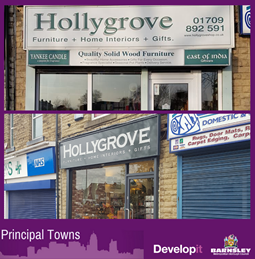 New window frame and improvements, shutters, entrance matting, tiles and signage for Hollygrove - Goldthorpe