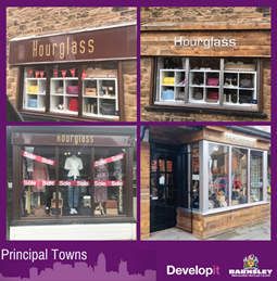 New shop front for Hourglass - Hoyland Common