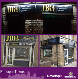 Shutters and signage for JBH Jewellery - Cudworth