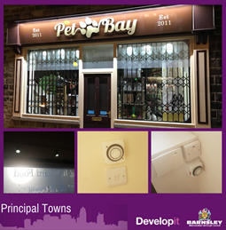 Internal shutter, signage, lighting and connection for Pet Bay - Mapplewell