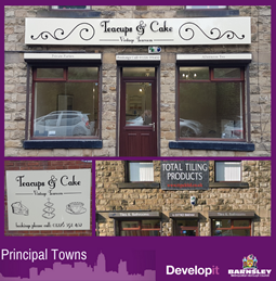 New signage for Teacups and Cakes - Darton