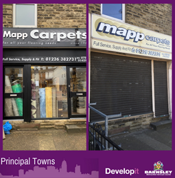 New shop front and signage for Mapp Carpets - Mapplewell