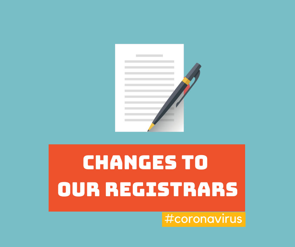 Changes to our registrars