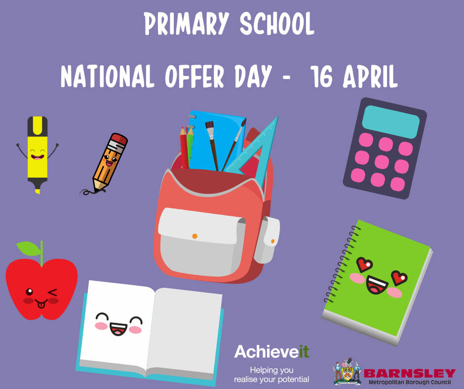 Primary school national offer day poster