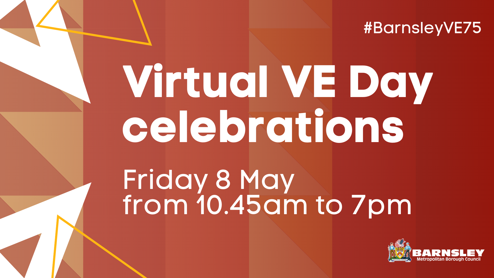 Virtual VE day celebrations Friday 8 May from 10.45am to 7pm