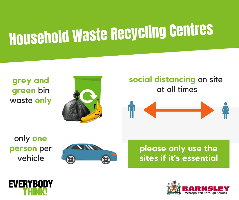 Restrictions in place for household waste recycling centres