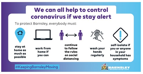 Ways we can all help to control coronavirus by staying alert
