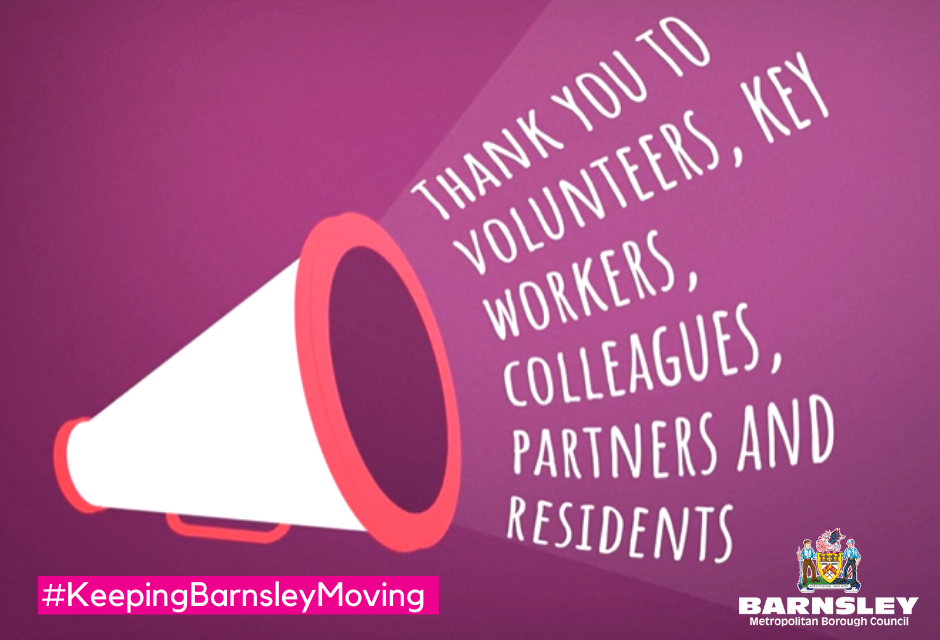 Thank you to volunteers, key workers, colleagues, partners and residents