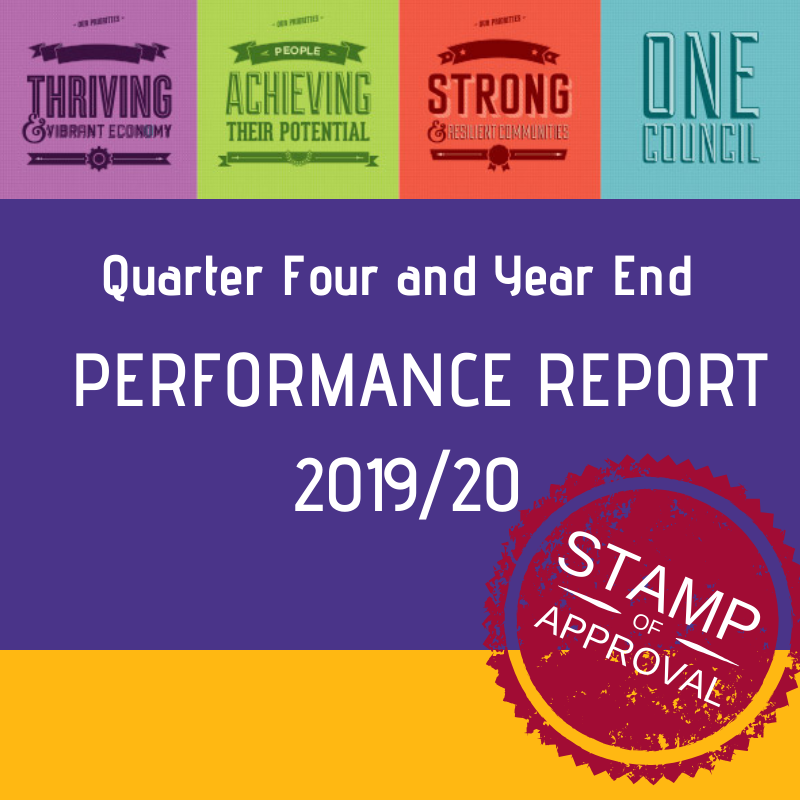 Quarter four and year end performance report 2019/20