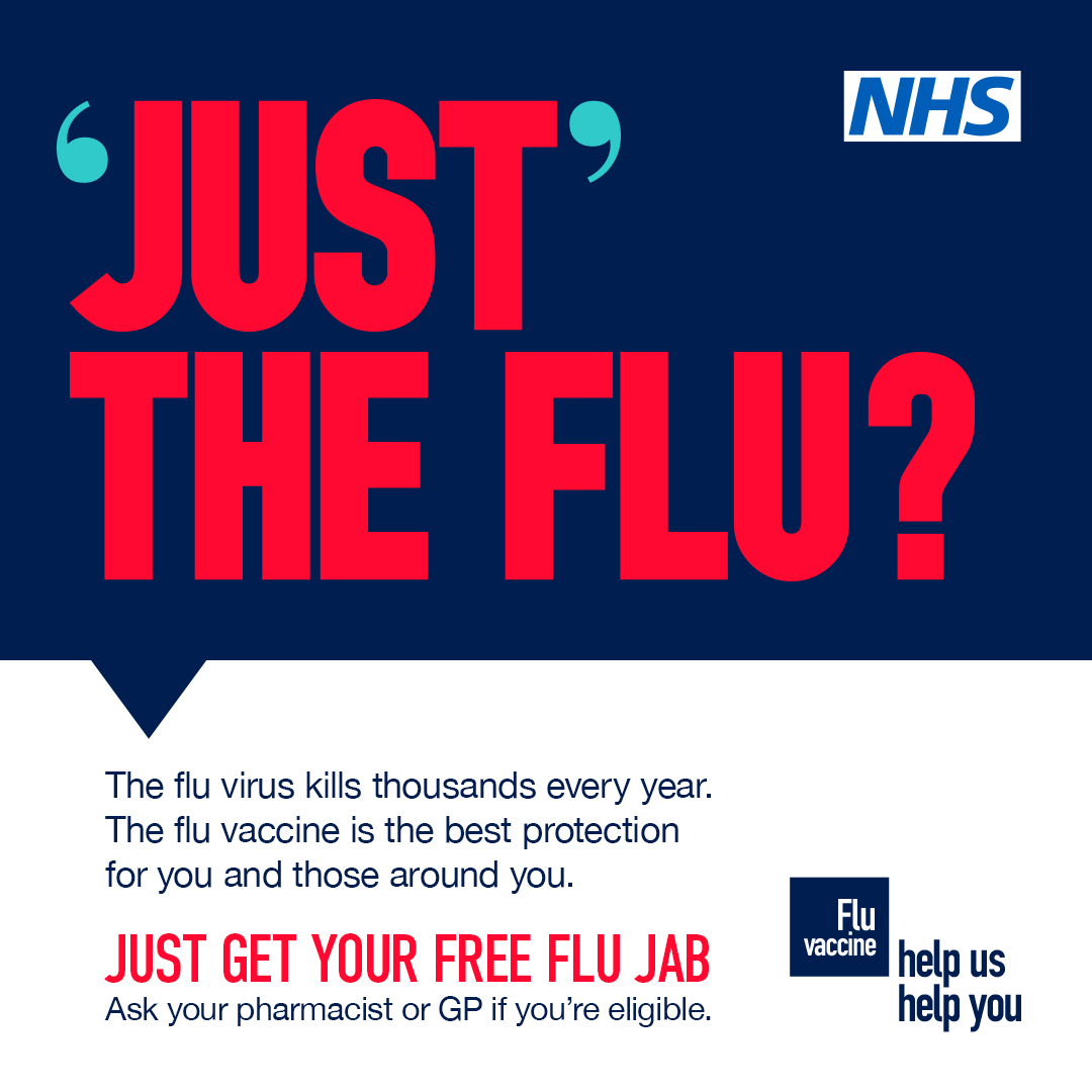 Just the Flu? NHS poster