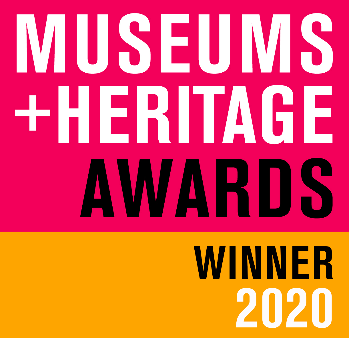 Museums and Heritage wards winner 2020 poster