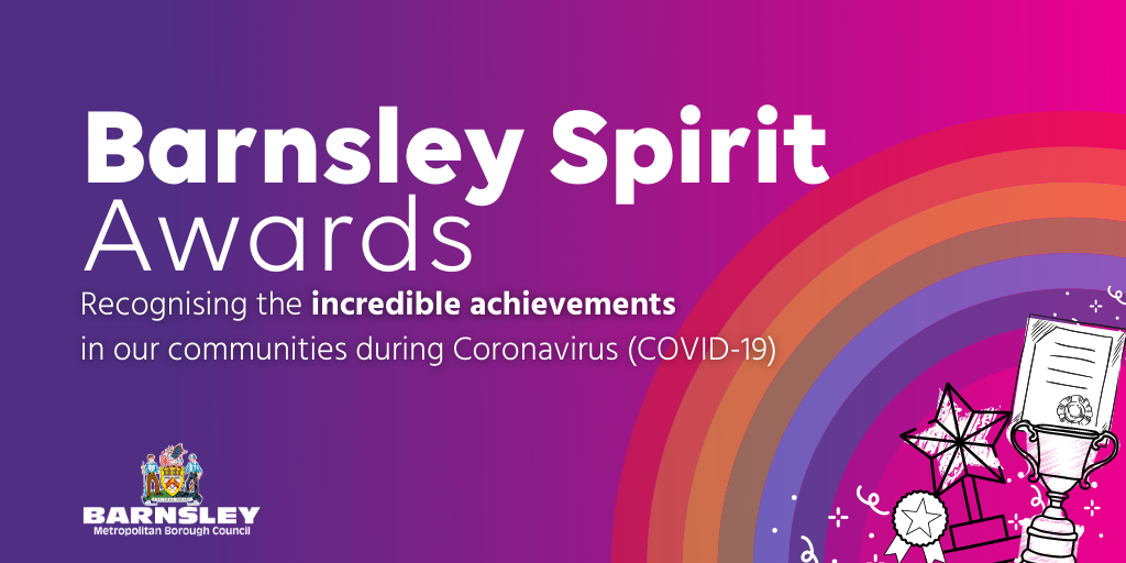 Barnsley Spirit awards - recognising incredible achievements in our communities image with rainbow and certificate icons.png