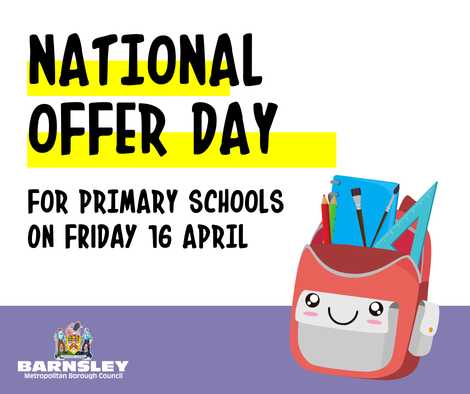 National offer day for primary schools on Friday 16 April
