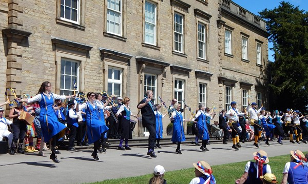 Dancers performing outside Cannon Hall.JPG