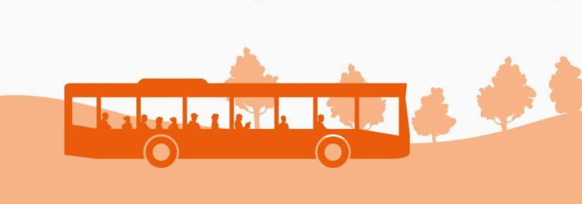 Coloured silhouette bus artist impression