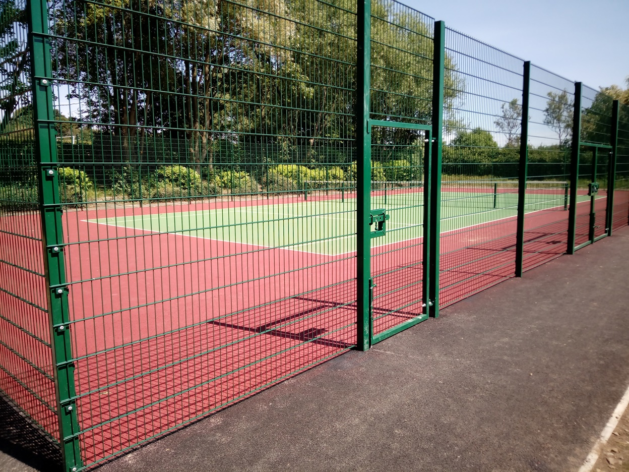 New tennis courst at Mapplewell park