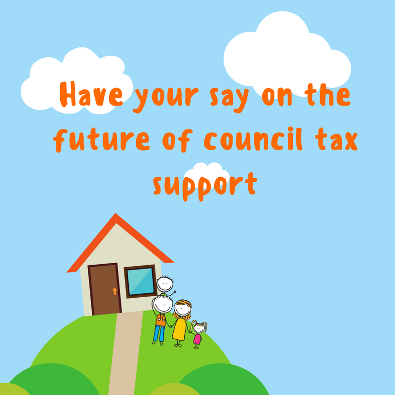 Have your say on the future of council tax poster