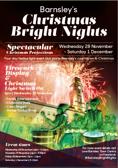 Christmas bright nights poster - Town Hall