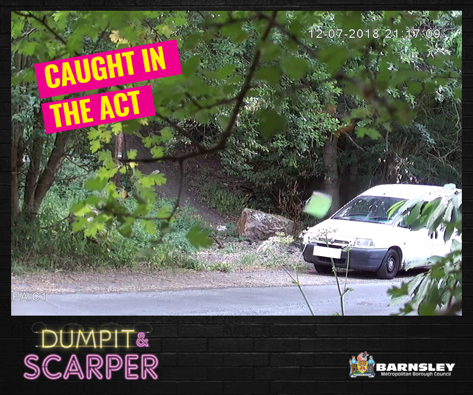Dumpit and scarper caught in the act van pulling over in the middle of the forest