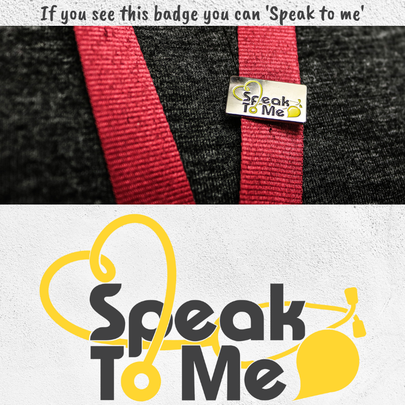 Speak to me badge