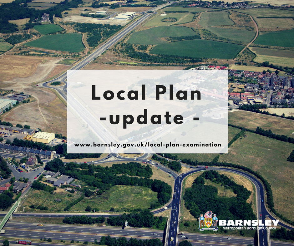 Local plan update Barnsley bird view