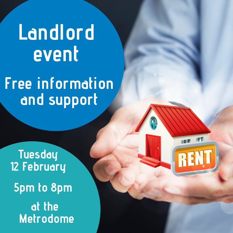Landlord event - Free information and support poster